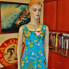 Hawaii High Schools Punahou Rough Riders Mini Dress