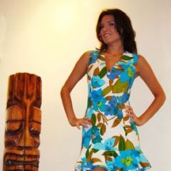 Bullocks Hawaiian Tennis Dress