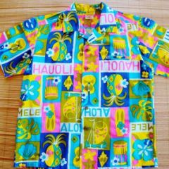 Mc Inerny Cartoon Hauoli Hawaiian Tiki Surf Shirt
