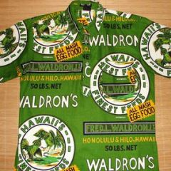 Hawaiian Holiday Cock Fight Waldron's Shirt
