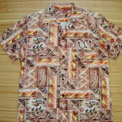 The Kahala Cotton Waikiki Surf Surfer Canoe Shirt