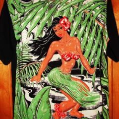 Art Vogue Hula Girl Back Panel Shirt