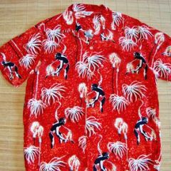 Makaha Hawaii Night Spear Fisherman Hawaiian Shirt