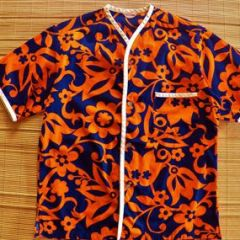 Kamehameha Mod Hawaiian Collarless Surf Shirt