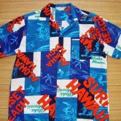Sears Endless Summer Bark Cloth Surf Shirt
