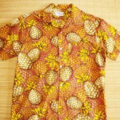 Gantner of California Pineapple Rockabilly Shirt
