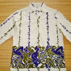 Hawaiian Surf Tribal Warriors Boarder Print Shirt