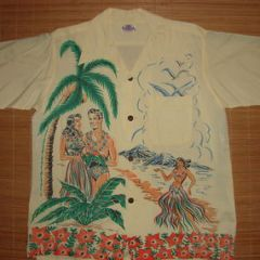 Campus Hula Girls Rayon  Shirt