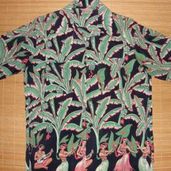 Art Vogue Rare Hula Girls Rayon Shirt
