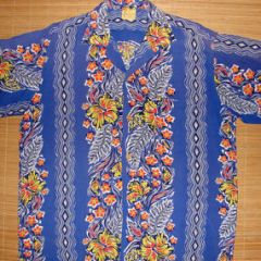 Hale Hawaii Rare Vertical Floral Rayon Shirt