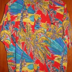 Kamehameha Collectible Coconut Climber Rayon Shirt