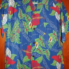Kaimana Hila Dead Stock Hawaiian Flowers Rayon Shirt