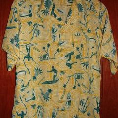 Andrade Pineapple Spear Fisherman Hawaiian Shirt