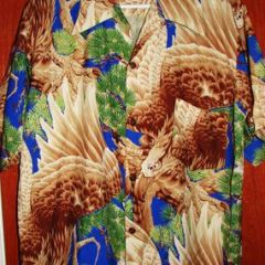 Hana Gift Shop Eagle Silk Vintage Aloha Shirt
