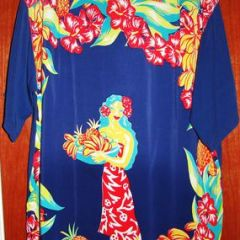 Royal Hawaiian Island Maiden Back Pane Shirt