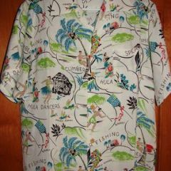 Russell's Hula Fishing Kahili Shirt