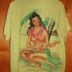 Kawaihau Hula Ukulele Back Panel Shirt