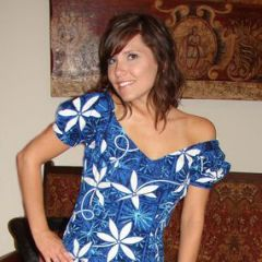 Alfred Shaheen Blue Hawaiian Mermaid Dress