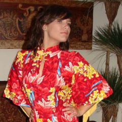 Hawaiian Togs Rayon Pake Dress