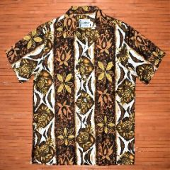 Ui Maikai Vertical Tribal Pineapple Hawaiian Shirt