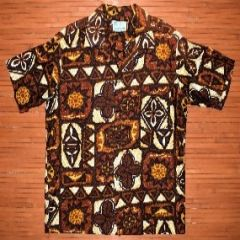 Kaluna Hawaii Tribal Tapa Shirt