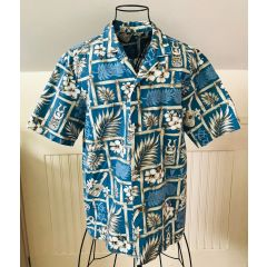 No Label Hawaiian Tiki Man Aloha Shirt