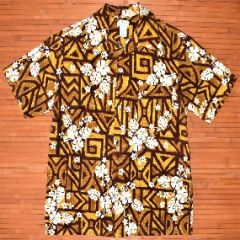 Made in Hawaii Tapa Tribal Hibiscus Shirt