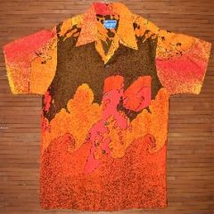 Waltah Clarke's Groovy Ink Splash Waves Shirt