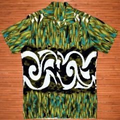 Tribal Wavy Graffiti Hawaiian Shirt