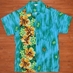 Made in Hawaii Vertical Hibiscus Aloha shirt