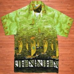 Tropicana Green Machine Hōkūleʻa Vintage Aloha Shirt