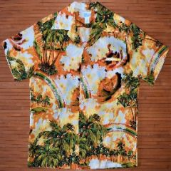 Kole Kole Rainbow Surfers Palm Hawaiian Shirt