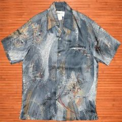 Tori Richard Splatter Mandalas Aloha Disco Shirt