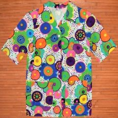 Mei Jan Ladies Hippie Neon Flower Power Shirt
