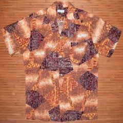 Made in Hawaii Tribal Shaped Aloha Shirt