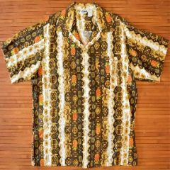 Tropicana Vertical Geometric Pineapples Vintage Shirt