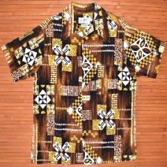 Don Loper Tribal Geometric Vintage Hawaiian Shirt