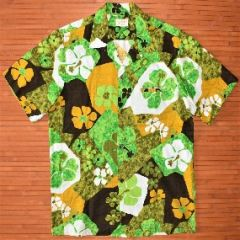 Kelii's Lucky Green Hippie Floral Shirt