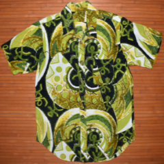 Vintage Green Machine Swirls Figure Shirt