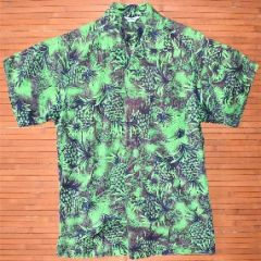 Made in Hawaii Green Pineapple Aloha Shirt