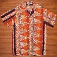 Vintage Tapa Designs Tribal Lava Floral Hawaiian Shirt