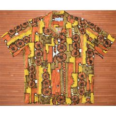 Duke Kahanamoku Geometric Multicolored Vintage Shirt