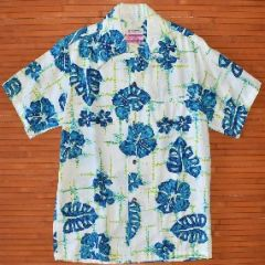 Waltah Clarke's Vintage Blue Elvis Monstera Shirt