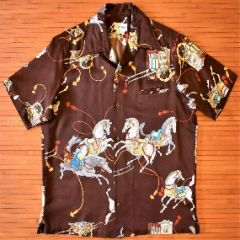 Andrade Horse Carriage Hawaiian Vintage Shirt