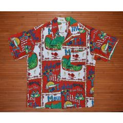 Vintage Made In Hawaii Maui Isle Hawaiian Aloha Shirt