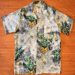 Made in California Palm Tree Hokule'a Aloha Shirt
