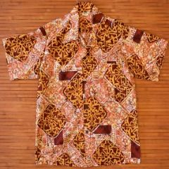 Made in Hawaii Abstract Tribal Cross Vintage Shirt