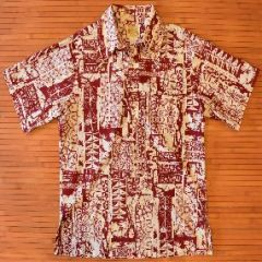 Polynesian Bazaar Abstract Tribal Shirt