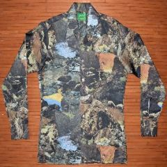 Joe Namath Rocky Cliff Water Long Sleeve Disco Shirt