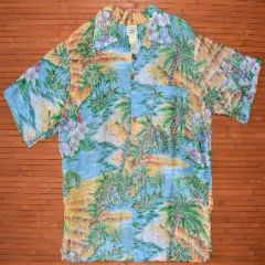 Surfline Palm Tree Flowers Reverse Print Shirt